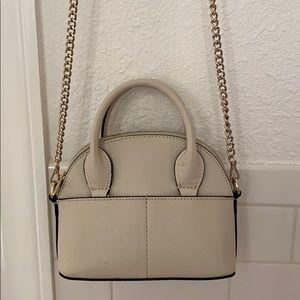 Zara white bowling bag purse
